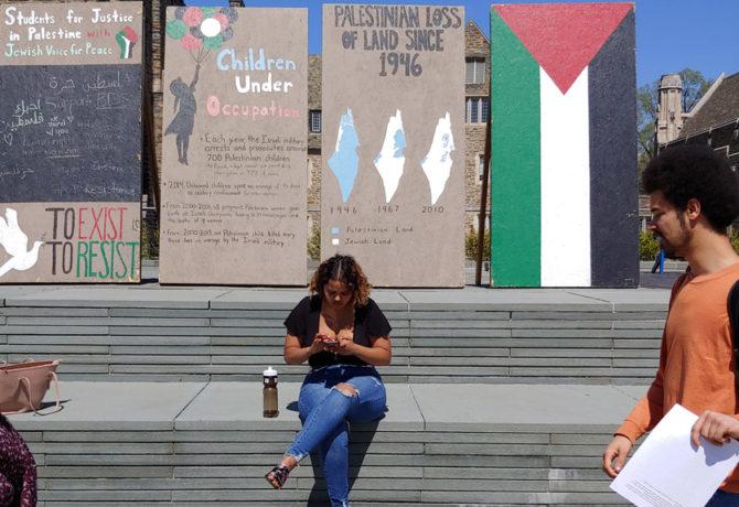 Lies NCCI are opposing in this case the Israel Apartheid Week display